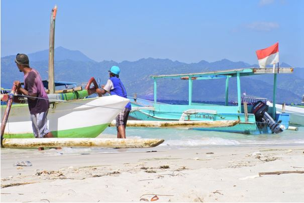 pêcheurs à Lombok