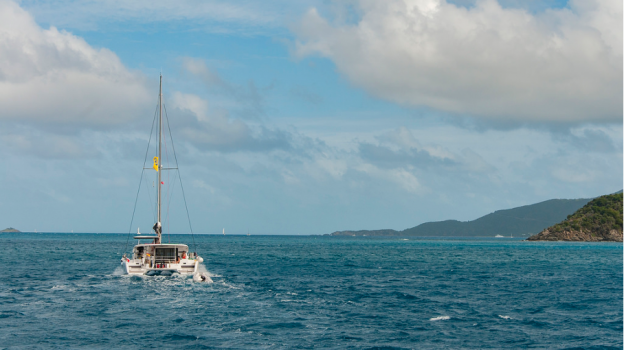 sea and boat catamaran