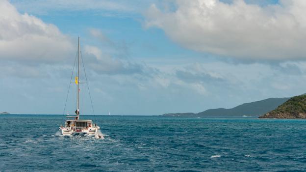 sea and boat catamaran